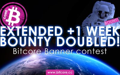 Bitcore Contest #1: Banner Set – 80 BTX in total prizes!   prizes doubled + 1 week to submit