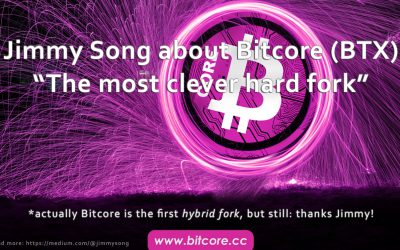 """Bitcoin Core Developer Jimmy Song about Bitcore """"the most clever fork"""""""
