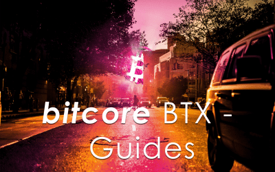Guides for Bitcore BTX: airdrop, coin control, private keys and wallet backups (English + German)