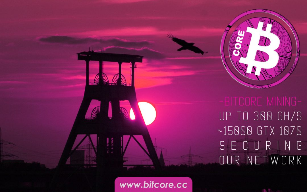 Bitcore network secured by 15000 GTX 1070 cards!