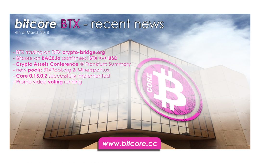 Bitcore Recent News Summary, 4th of March