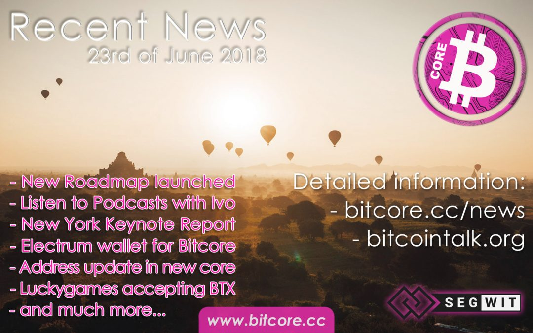 Recent news: 23rd of June 2018