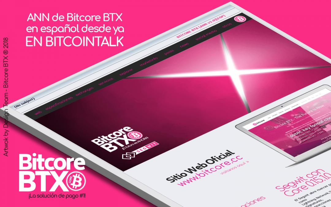 [ANN][Main] Bitcore- BTX – ¿Estas listo para el futuro?