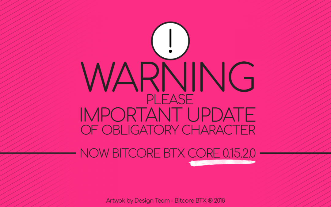 Announcing  Bitcore Core 0.15.2.0 for immediate upgrade!