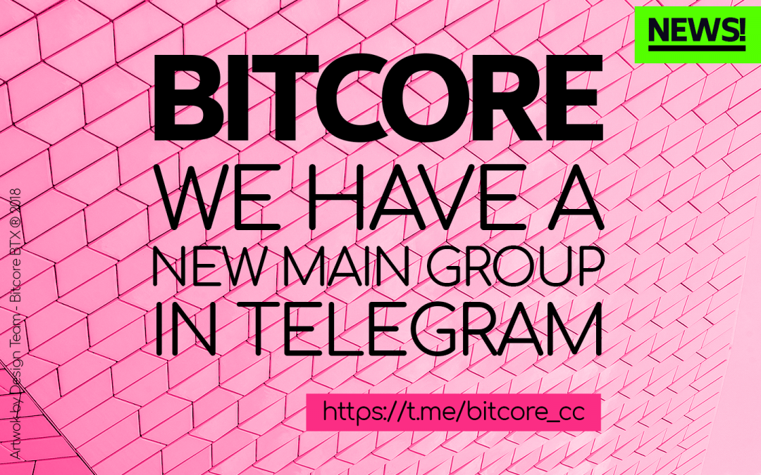 We have new main group in Telegram
