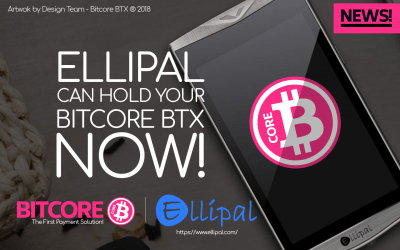 Ellipal mobile app and hardware wallet support Bitcore BTX