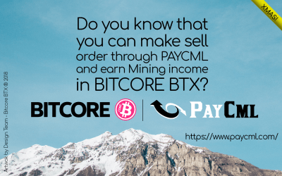 We are happy to share PayCml mining system with BITCORE