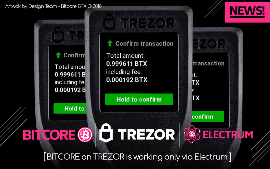 New Version of Electrum-BTX Supports Trezor