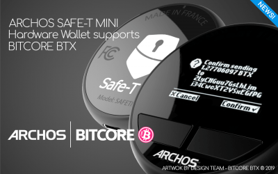 ARCHOS SAFE-T MINI HARDWARE WALLET SUPPORTS BITCORE BTX