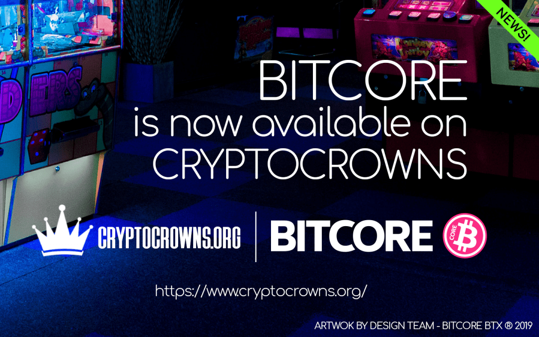 Bitcore is now available on CryptoCrowns!