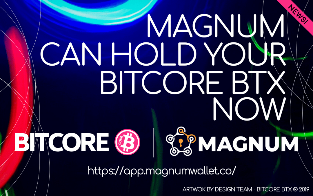 Bitcore has been integrated into Magnum Wallet
