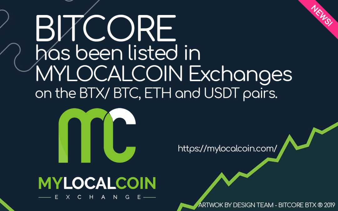 BITCORE is now available on MYLOCALCOIN