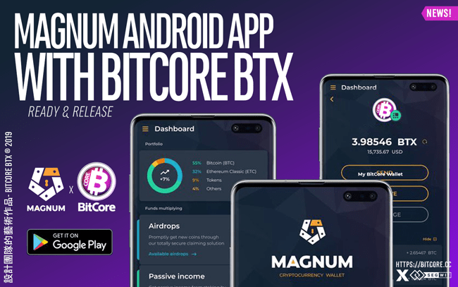 Magnum Android App with Bitcore BTX