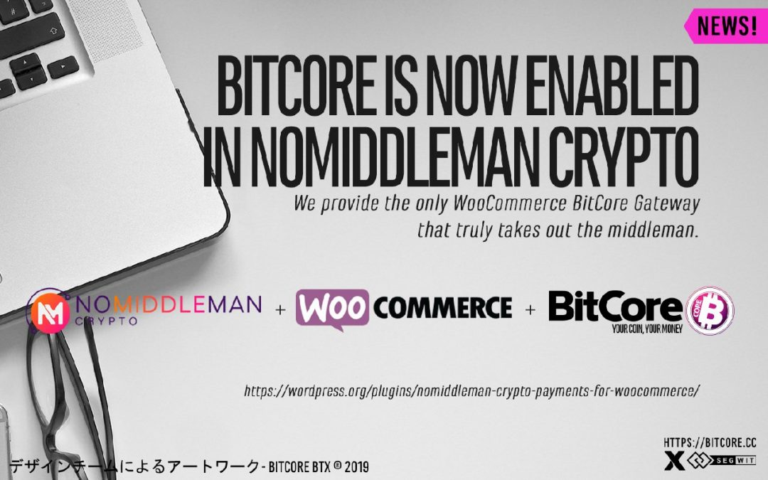 Grow your online business with Nomiddleman by accepting $BTX payments on your website