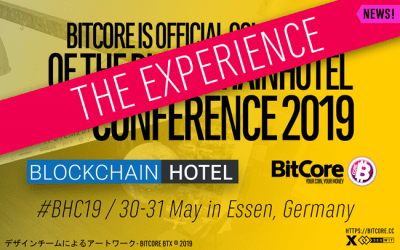 Bitcore BTX @BlockchainHotel #BCH19 Conference in Essen, Germany