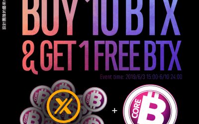 "XT.com will launch"" Buy 10 BTX & GET 1 FREE BTX"" event"