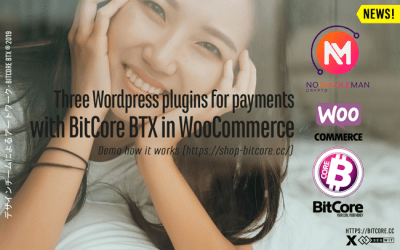 Three WordPress plugins that allow you to accept payments in BitCore BTX for physical and digital products at your WooCommerce-powered stores.