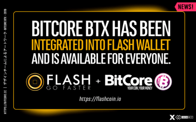 The FLASH Wallet now supports BitCore BTX.