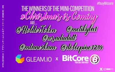 The Winners of Christmas is Coming with BitCore Nº1