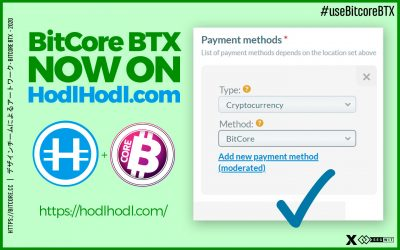 BitCore BTX now on HodlHodl.com