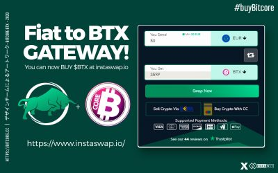 The Fiat to #BTX gateway!