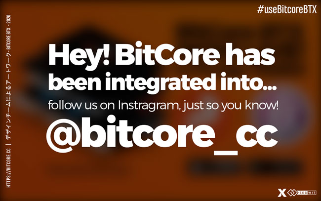 New integration for BitCore BTX