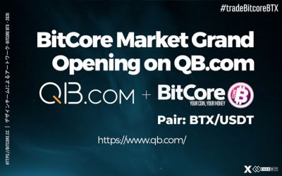BitCore market grand opening on QB.com